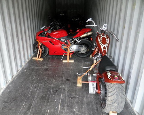 shipping motorcycles from USA to Europe UK Germany Italy via container service